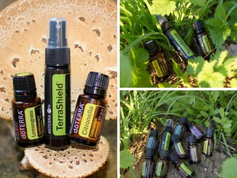 Repelent z esenciálnych olejov doTERRA proti komárom a kliešťom.